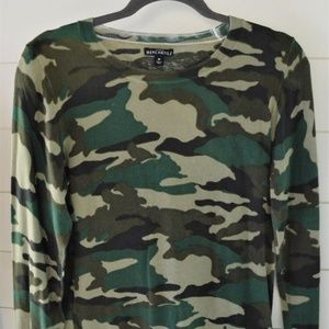JCrew Camo Lightweight Sweater